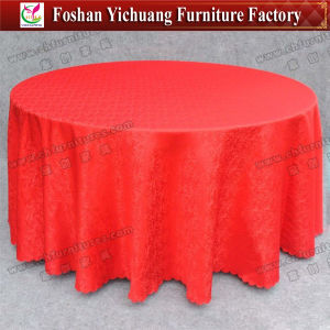 Hotel Table Cloth Polyester Table Cover (YC-0295-01) pictures & photos