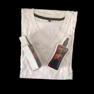 100% Cotton Compressed V-Neck White Compressed T-Shirt pictures & photos