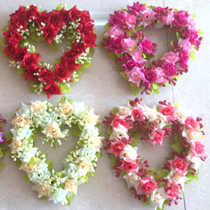 The Heart-Shaped Artificial Flower for Wedding pictures & photos