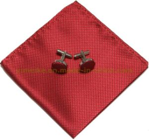 Classical Hot-Sale Men Handkerchief and Cuff-Link Set (WH11) pictures & photos