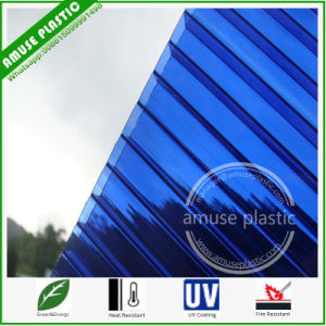 New Environment-Friendly Building Material Polycarbonate Hollow Sheet Colored Sun Sheet pictures & photos