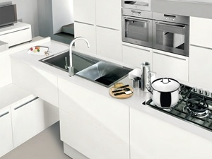 2017 Hot Online Modern Standard White Lacquer Kitchen Cabinets pictures & photos