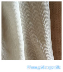 Grid Silk Fabric for Women′s Casual Dresses pictures & photos