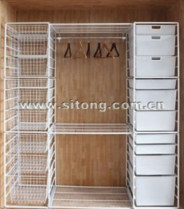 Seven Tier Free Standing Powder Coated Wire Drawer (LL-01) pictures & photos