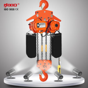Speed Inverter 10t Electric Chain Hoist with Trolley pictures & photos