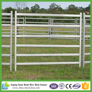 Heavy Duty Steel Pipe Galvanized Cattle Yards Panel with Gate pictures & photos