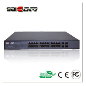 Saicom (SCPOE2-4G24E) 1000M SC/SFP/RJ45 24 Poe Gigabit Switch pictures & photos