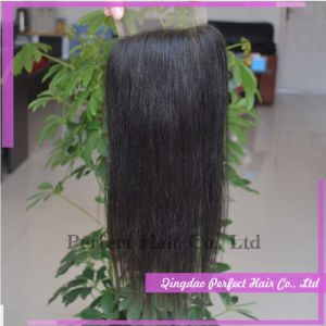 5A Unprocessed Peruvian Virgin Hair Closure pictures & photos