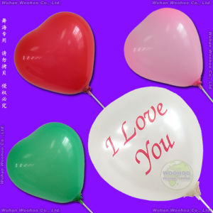 "Inflatable Colour Printed Heart Shaped Balloon with Printing Design ""I Love You"" pictures & photos"