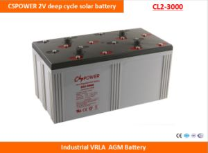 Cspower 2V2500ah Deep Cycle AGM Battery for Solar Power System, China Manufacturer pictures & photos