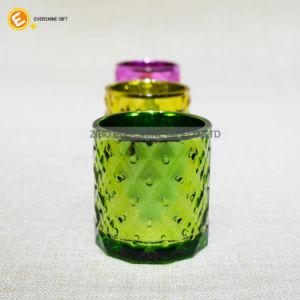 Colorful Glass Candle Hoder Set 3 pictures & photos