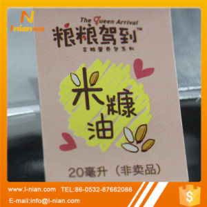 Custom Printing Edible Oil Bottle Label