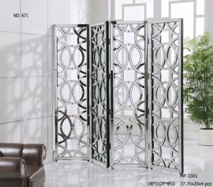 Special Shape of Room Divider with Double Size Clear Mirror pictures & photos