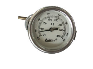 Round Metallic Thermometer