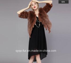 2015 Short Style Fox Fur with Rex Rabbit Fur Patchwork Fur Coat pictures & photos