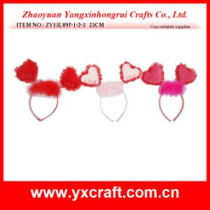 Valentine Decoration Free Sample (ZY13L897-1-2-3) Fancy Headband for Valentine Party pictures & photos