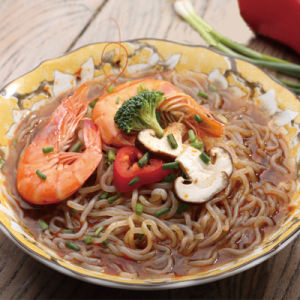 Chinese Food Shirataki Instant Noodles with Low-Calorie