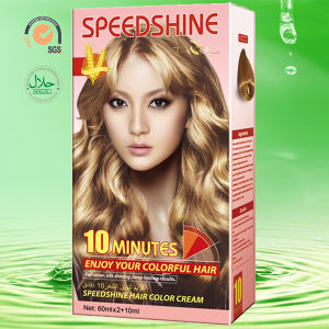 10 Minutes Hair Color Cream Light Blonde 9.0 30ml*2+5ml pictures & photos