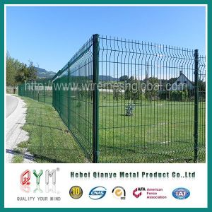 Green Powder Coated Welded Mesh Fence/3D Type Mesh Fence/Welded Mesh Fence pictures & photos