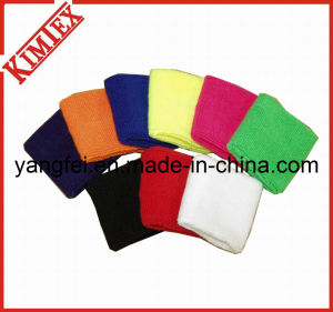 Sports Solid Blank Color Cotton Promotion Sweatband pictures & photos