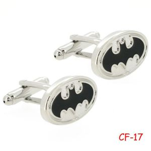 2014 SGS Men′s Fashion Novelty Cuff Links with Enamel Batman Design (CF-17)