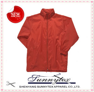 Adult Short Nylon Hoody Raincoat Jacket pictures & photos