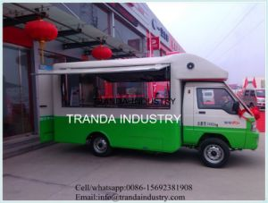 Countertop Chestnut Kitchen Car Fish Pellet Concession Stand Trailer Qingdao in China pictures & photos