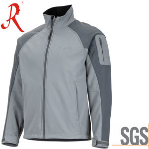 Windproof and Waterproof Softshell Jacket with High Quality (QF-4114) pictures & photos