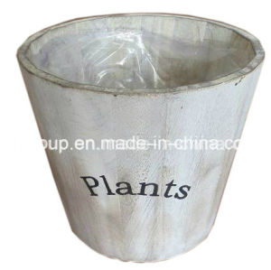 Eco-Friendly Europe Style Vintage Wooden Flowerpot with Plastic Liner pictures & photos