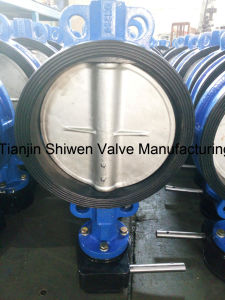 API/DIN Ductile Iron Wafer Type Butterfly Valve with CF8 Disc pictures & photos