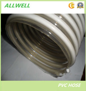 "PVC Suction Spiral Garden Discharge Water Irrigation Hose 6"" pictures & photos"