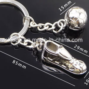 Custom 3D Metal Football and Shoe Keychain pictures & photos