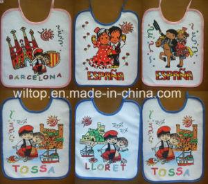 100% Cotton Logo Printed Baby Bibs (PM084) pictures & photos
