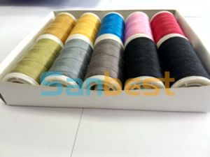 Colorful Spun Plyester Sewing Thread on Small Reels pictures & photos