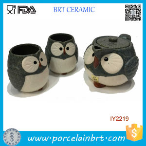 Hot Sale Cute Owl Ceramic Cup and Pot Tea Set pictures & photos