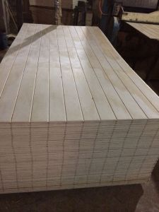 Pine Face Grooved /Slotted Pine Plywood 9mm-18mm pictures & photos