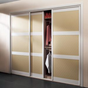Oppein Melamine Sliding Door Wardrobe (OPY2010A-3#) pictures & photos