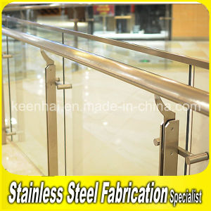 Indoor Stainless Steel Stair Railing Tempered Glass Balustrade pictures & photos