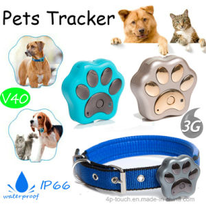 3G Mini Waterproof Pet GPS Tracker with Collar (V40) pictures & photos