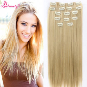 8A Grade Indian 100% Human Hair Clip in Hair Extensions pictures & photos