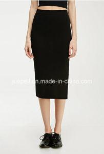 Fashion Slit MIDI Reinvented Elasticized Waist Pencil Skirt pictures & photos