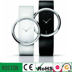 Leatcher Strap Japan Movement Lady Wrist Watch