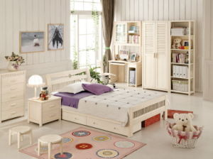 Latest Children Bedroom Furniture for Pine Wood 07007
