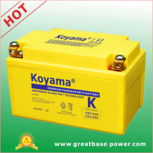Top Grade Motorcycle Battery 8.6ah 12V pictures & photos
