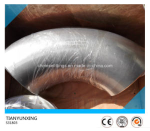 90 Deg S31803 S32205 Seamless Stainless Steel Pipe Elbow pictures & photos