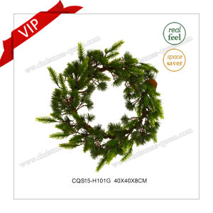 16 Inch Plastic Products Home Artificial Wreath Christmas Decoration pictures & photos