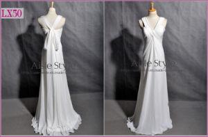 Criss-Cross Lacing Evening Dress