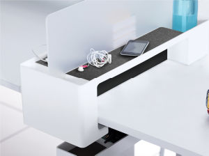 Uispair Office Home Supplies Desktop Item Storage Rack with Power Supply Box Extension Socket pictures & photos