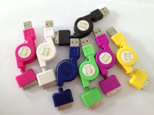 USB Data Cable for iPhone 4, 4s, 5pin Flat Cable pictures & photos