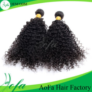 100% Kinky Curly Virgin Brazilian Huaman Hair Weaving pictures & photos